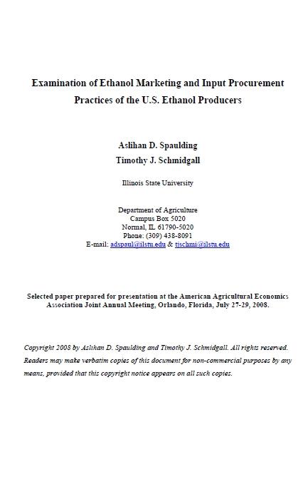 Interessen der Agrarwirtschaft zur Einführung von E10